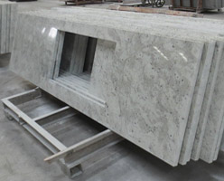 Andromeda White Granite Kitchen Tops