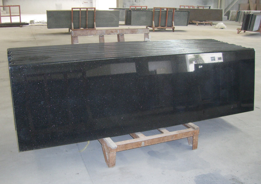 Black Galaxy Granite Counters