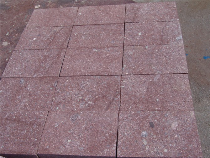 Red Paving Stones : Red porphyry pavers