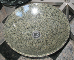 China Green Granite Sink