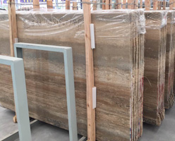 Silvery Travertine Slabs