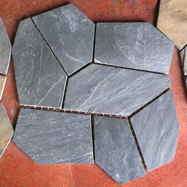 Black Slate Irregular Tiles