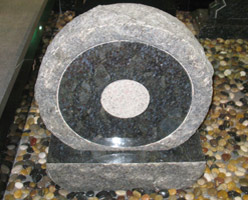 Butterfly Blue Granite Headstone