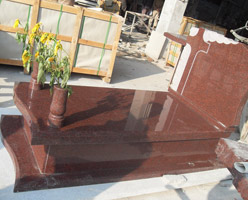 India Red Granite Tombstone