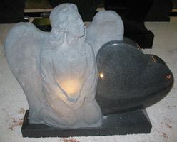 Granite Angel Headstone