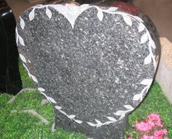 Granite Heart Headstone