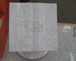 White Granite Book Headstone