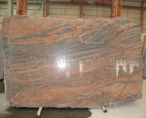 Granite Slab Multicolor Red