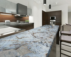 Blue Quartzite Kitchen Countertop