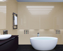 Latte Quartz Bathroom Panel