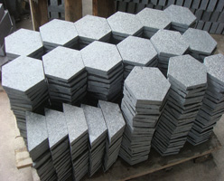 Flamed G684 Granite Pavers