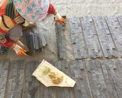 China Culture Slate Worker