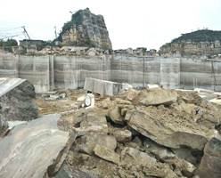 White Wood Grain Marble Quarry