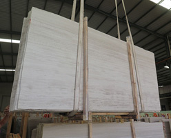 Wooden Grain White Marble Slabs