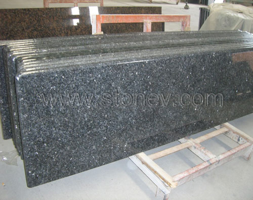 Granite Blue Pearl countertops are used for apartment or hotel ...