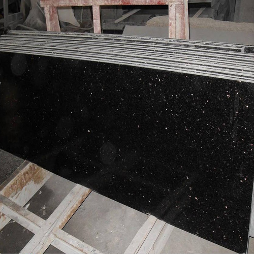 Black Galaxy Granite Kitchen: Black Galaxy Slab SL519
