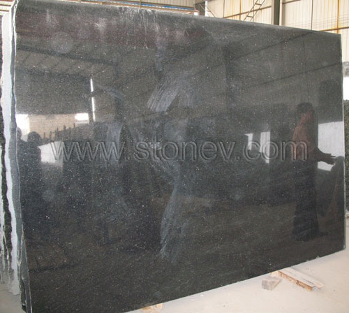 Black Granite Slabs : India granite black galaxy slabs for countertops and