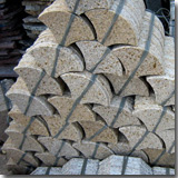 Granite Fan Shaped Tiles
