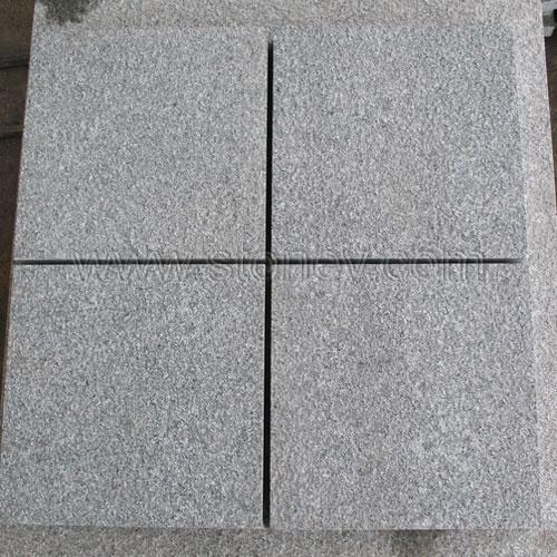 Granite G654 Dark Grey Flamed Tiles For Flooring Or Building Facade