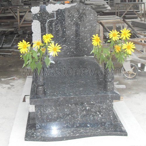 Granite Blue Pearl Tombstone