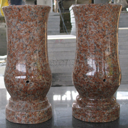 Stone Granite Marble Vase For Tombstone And Monuments