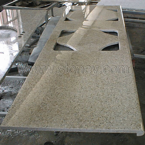 Granite Kitchen Countertop - Granite G682 Golden Yellow Kitchen ...