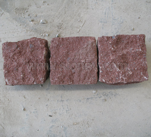 Red Granite Cube : Chinese granite dayang red cube stone and paving