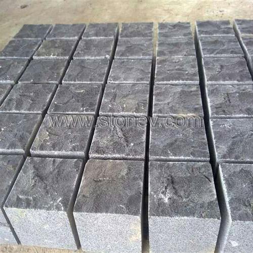 G778 black basalt pavers bs132 landscaping stone for Basalt pavers