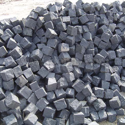 Mongolia Black Cube Stone Bs129 Landscaping Stone