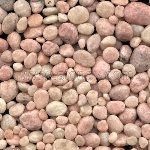 Pink Pebblestone Is Machine Made From China Pebble Stone