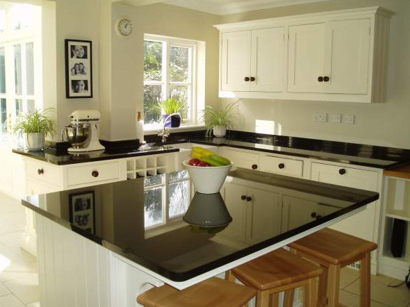 Kitchen Black Granite : Black granite kitchen top stone photo gallery