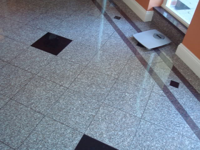 Grey Granite Tile Floor