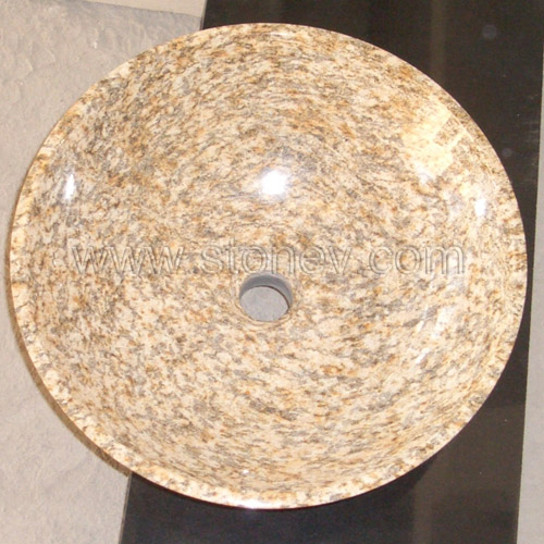 Granite Tiger Skin Yellow Sink