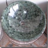 Granite Flower Green Sink