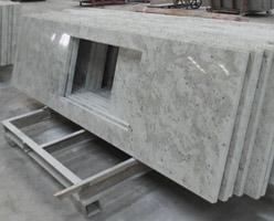 Andromeda White Granite Kitchen Tops