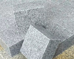 Sawn Gray Granite Cubes