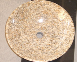 Tiger Skin Yellow Granite Sink