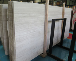 White Wood Grain Marble Slabs