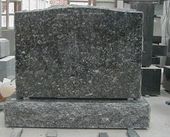 Blue Pearl Granite Tombstone