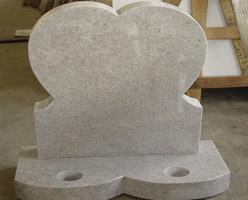 White Granite Headstone