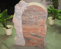 Red Granite Headstone