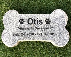 Gray Granite Pet Memorial