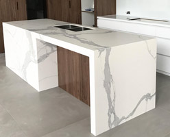 Kitchen Countertops - White Quartz Kitchen Countertop