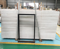 Chinese White Wood Marble Slabs