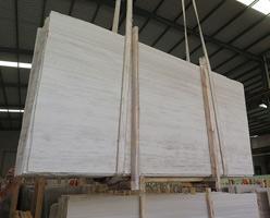 Wooden Grain White Marble Slabs