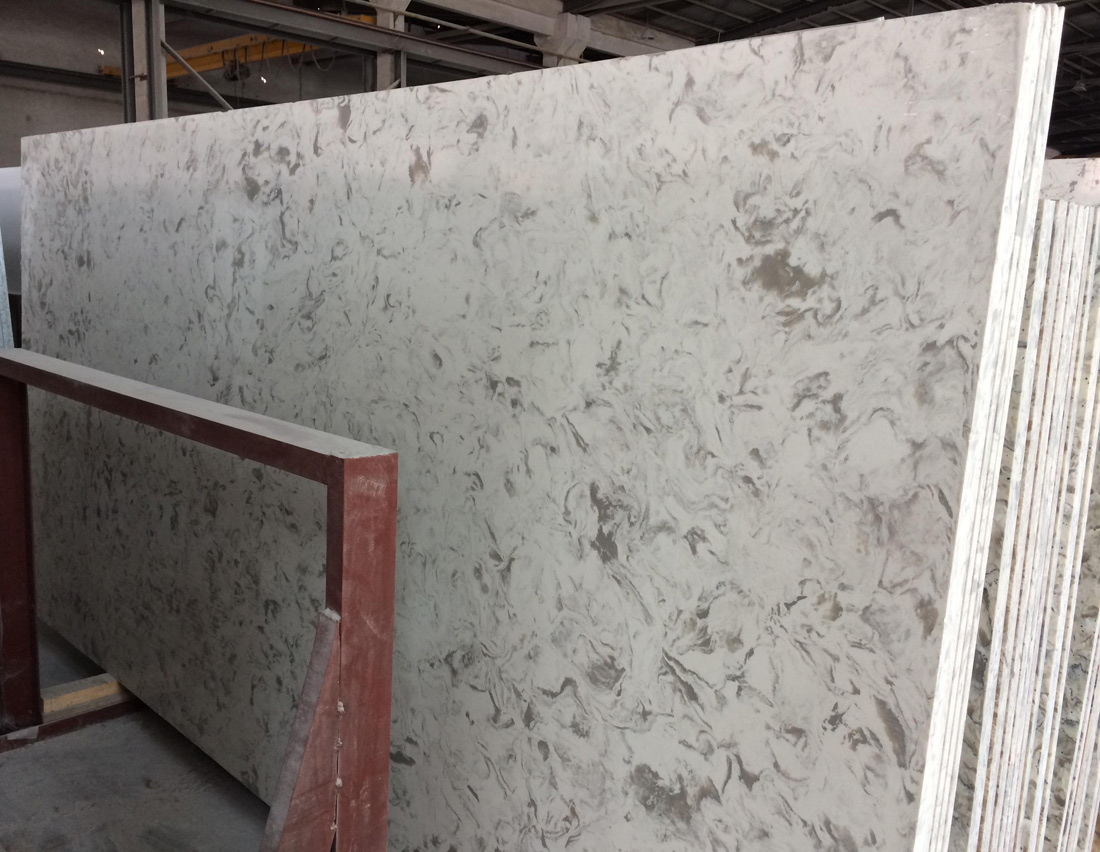 Multi Colour Quartz Stone Slabs