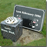 Granite Cemetery Marker