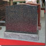 Granite South Africa Black Headstone