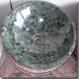 Granite Flower Green Sink