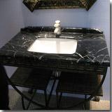Marble Black & White Vanity Top